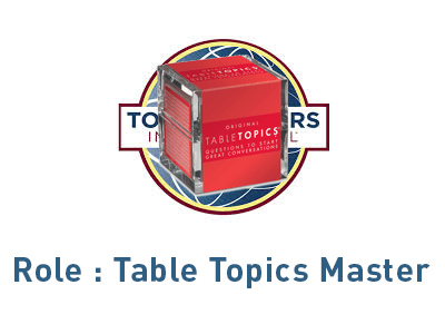 Role Table Topics Master